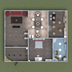 planos apartamento cuarto de baño dormitorio 3d