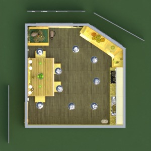 floorplans meubles décoration cuisine espace de rangement 3d