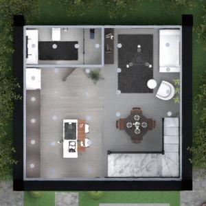 floorplans namas vonia virtuvė valgomasis 3d