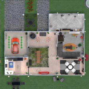floorplans casa varanda inferior banheiro quarto patamar 3d