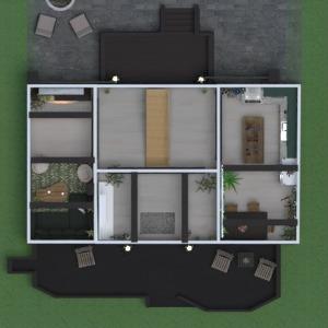 floorplans 独栋别墅 露台 家具 装饰 结构 3d