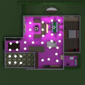 floorplans apartamento casa varanda inferior 3d