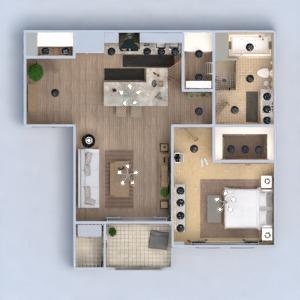 floorplans mieszkanie meble wystrój wnętrz łazienka sypialnia pokój dzienny kuchnia oświetlenie przechowywanie mieszkanie typu studio 3d