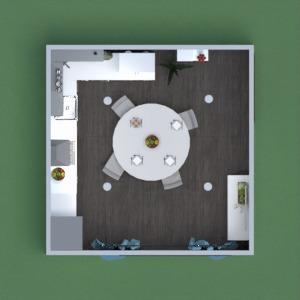 planos casa decoración cocina iluminación comedor 3d