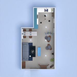floorplans dom pokój dzienny kuchnia oświetlenie jadalnia 3d