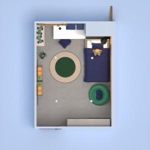 planos casa muebles dormitorio habitación infantil iluminación 3d