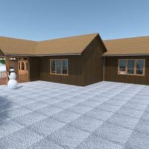 floorplans namas terasa baldai vonia miegamasis svetainė eksterjeras renovacija аrchitektūra prieškambaris 3d