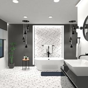 planos decoración cuarto de baño iluminación arquitectura 3d