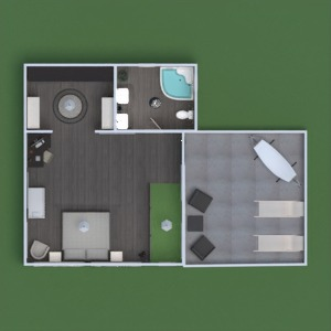 floorplans appartement terrasse meubles décoration salle de bains chambre à coucher salon garage cuisine extérieur eclairage salle à manger 3d