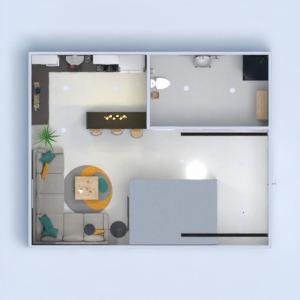 floorplans mieszkanie oświetlenie remont mieszkanie typu studio 3d