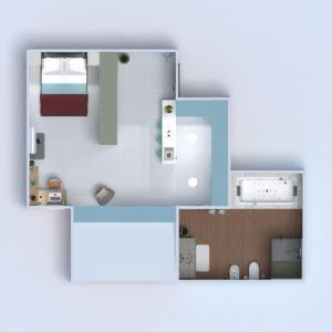 floorplans mieszkanie meble wystrój wnętrz pokój dzienny kuchnia biuro oświetlenie architektura mieszkanie typu studio wejście 3d
