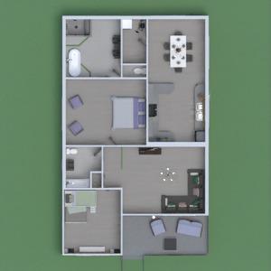 floorplans haus schlafzimmer wohnzimmer küche landschaft 3d