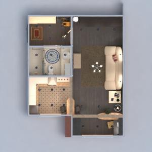 floorplans butas baldai dekoras pasidaryk pats vonia svetainė virtuvė biuras apšvietimas renovacija sandėliukas studija prieškambaris 3d