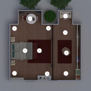 planos muebles decoración dormitorio salón iluminación 3d