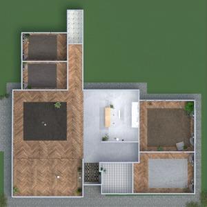floorplans 独栋别墅 家具 装饰 客厅 办公室 3d