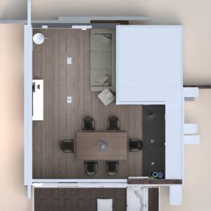 floorplans apartamento mobílias quarto cozinha 3d