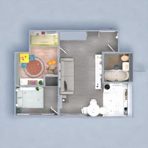 планировки квартира ванная спальня кухня детская 3d
