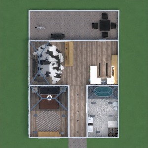 floorplans 独栋别墅 露台 3d