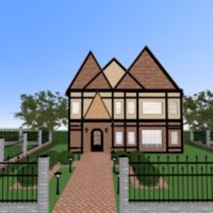 floorplans maison extérieur architecture 3d