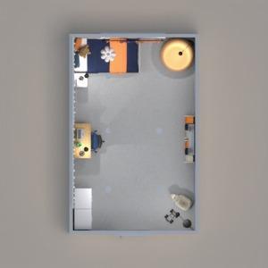 planos dormitorio habitación infantil iluminación 3d