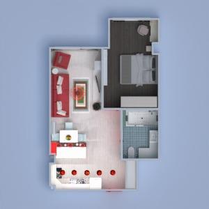 floorplans appartement meubles décoration salle de bains chambre à coucher salon eclairage rénovation studio 3d