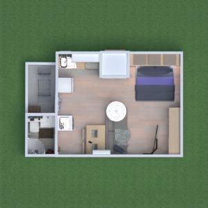 floorplans appartement maison salle de bains chambre à coucher salon 3d
