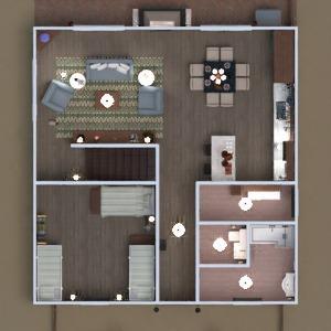 floorplans house terrace living room kitchen architecture 3d