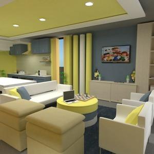 floorplans salon cuisine chambre d'enfant salle à manger 3d