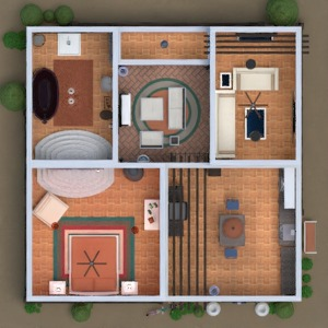 floorplans namas baldai vonia miegamasis 3d