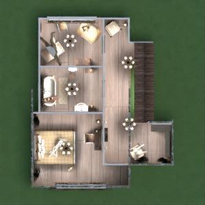 floorplans namas dekoras svetainė virtuvė 3d
