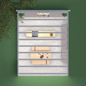 planos muebles decoración cocina exterior comedor 3d