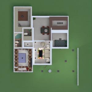 floorplans apartment house terrace living room kitchen 3d