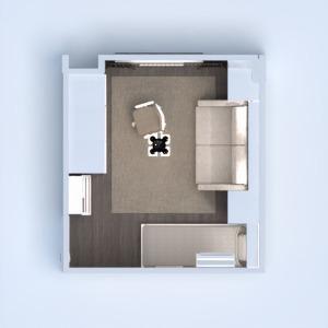 floorplans apartamento mobílias quarto quarto despensa 3d