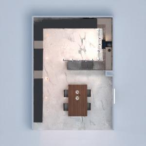 floorplans casa cozinha iluminação utensílios domésticos sala de jantar 3d