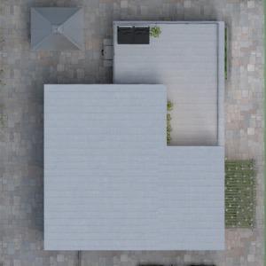 floorplans butas dekoras svetainė virtuvė valgomasis 3d