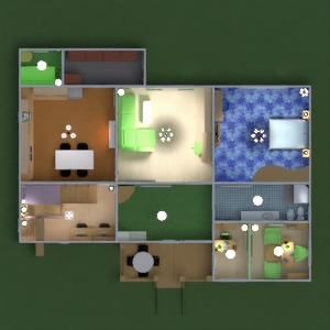 planos casa terraza dormitorio salón cocina habitación infantil despacho 3d