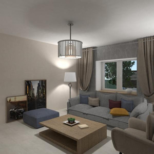 floorplans butas namas svetainė virtuvė studija 3d