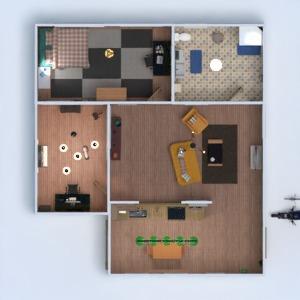 floorplans mieszkanie meble łazienka sypialnia pokój dzienny kuchnia mieszkanie typu studio 3d