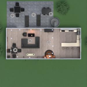 planos casa terraza cuarto de baño exterior reforma 3d