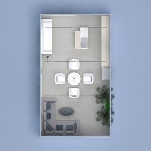 floorplans furniture decor living room kitchen dining room 3d