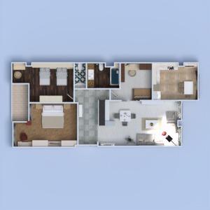 floorplans appartement meubles décoration diy salle de bains chambre à coucher salon cuisine chambre d'enfant eclairage rénovation salle à manger architecture entrée 3d
