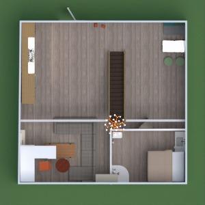 floorplans apartamento banheiro quarto cozinha sala de jantar 3d