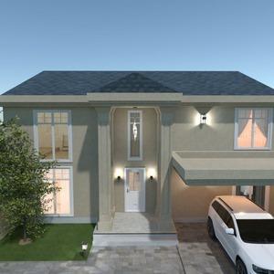 floorplans casa mobílias quarto cozinha área externa 3d