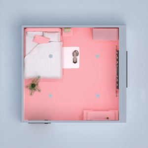 planos apartamento dormitorio salón 3d