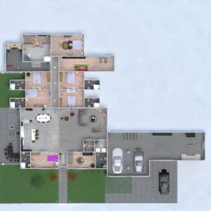 floorplans house garage office dining room storage 3d