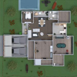 floorplans house bedroom garage kitchen household 3d