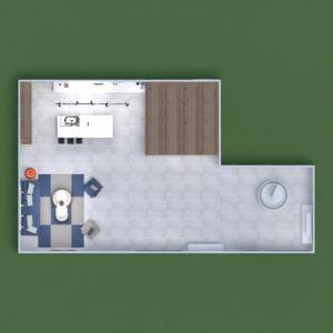floorplans maison salon cuisine salle à manger 3d