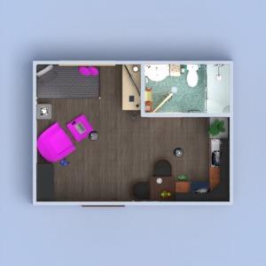 progetti appartamento decorazioni monolocale 3d