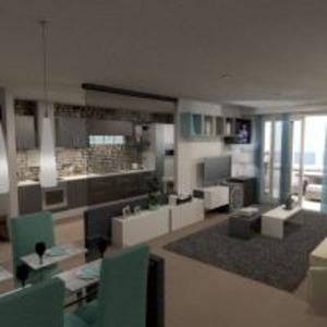 floorplans mieszkanie meble wystrój wnętrz pokój dzienny kuchnia biuro oświetlenie krajobraz architektura wejście 3d