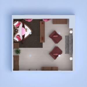 floorplans mieszkanie meble wystrój wnętrz sypialnia oświetlenie 3d